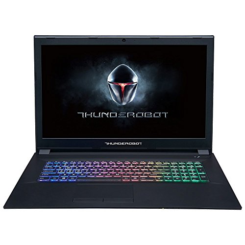 "Thunderobot GX97 Ordenador Portátil Gaming de 17.3"" FullHD (Intel Core i7-7700HQ, 8GB RAM, 1TB HDD + 256GB SSD, NVIDIA GeForce GTX 1050Ti 4GB GDDR5, Windows 10); Negro - Teclado QWERTY inglés"