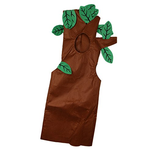 Sharplace Traje de Vegetal Árbol Actuación No Tejido Bosque Animales Equipo Disfraz Ropa Linda Muchachos