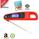 Digital Cooking Thermometer W/ Probe & FREE Ebook| The Best Electronic Internal Meat/ Candy Thermometer W/ Instant Reading| Ideal For BBQ, Smokers,
