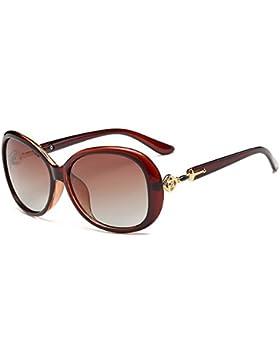 Gafas de sol de las señoras de la vendimia gafas de conducción marco grande gafas de sol polarizadas protección...