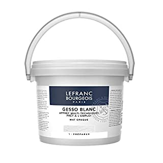 Lefranc & Bourgeois 300658Gesso, White, Universalgrundierung Acrylic Painting, Ready to Use–Matte Opaque Opaque for Canvas, Paper, Stone, Wood, Plaster 2.5Litre Bucket
