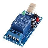 DollaTek HR202 DC 5V 1 Channal 1CH 5V Interruptor Sensible a la Humedad Módulo de relé Controlador de Humedad Módulo del Sensor de Humedad con indicador