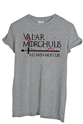 T-Shirt VALAR MORGHULIS GAME OF THRONES - FILM by iMage Dress Your Style - Donna-XL-GRIGIO SPORT