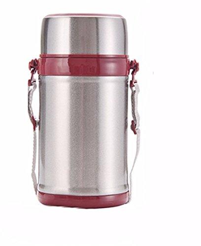 MDRW-Schwelen Topf schmoren Topf, Edelstahl, isoliert Lunch-Boxen, verstopfte Becher,1000ML Silber