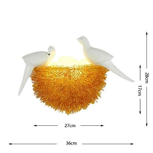 Glas 3-licht-arc (JZX Bird 's Nest Led Wandleuchte, Retro Metall Birdcage Form Wandleuchte, Creative Arc Aluminium Draht Lampenschirm, Kinder' S Schlafzimmer Studie Esszimmer Lampe)