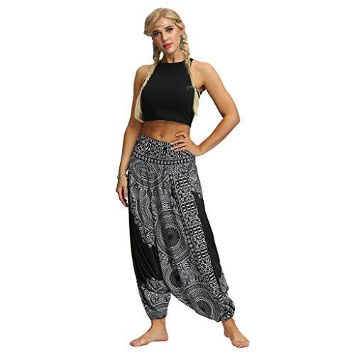 RISTHY Harén Pantalones de Estilo Hippie Mujer de Vendimia Estilo Nac