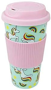Unicorn Travel Mug Coffee Cup Multicolour
