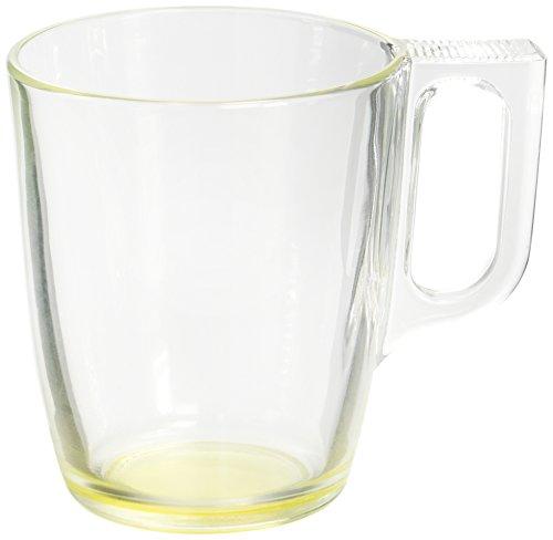 Luminarc 9213708 Lot de 6 Mugs de Contenance Verre Jaune 10,5 x 7,5 x 9 cm 25 cl 6 Unités