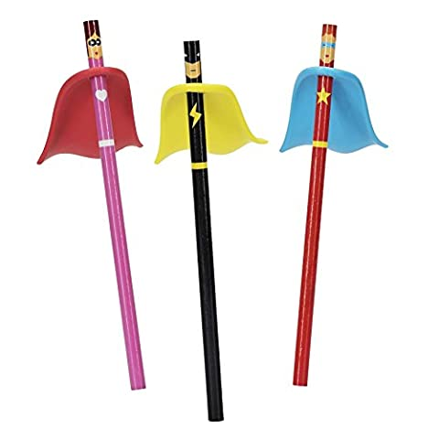 Superhero Pencil With Eraser Cape - One Supplied