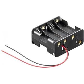 Portapilas para 8 Pilas LR6 AA, Cablepelado