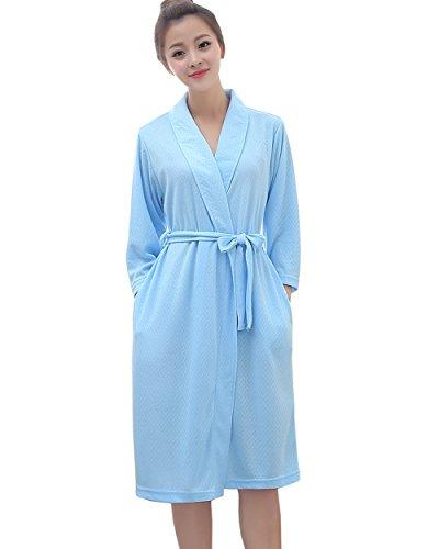 Damen bademantel soft kimono Robes sommer bademantel sommer ...