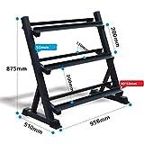 Dumbell Stand Dumbbell Gewicht Rack Commerciële Zeshoekige Verstelbare Dumbbell Display Rack (Exclusief halters)