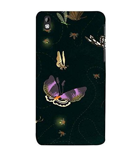 Butterflies Wallpaper 3D Hard Polycarbonate Designer Back Case Cover for HTC Desire 816 :: HTC Desire 816 Dual Sim :: HTC Desire 816G Dual Sim