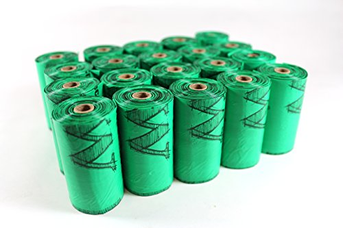 ecopaw Dog Poo Bags   Biodegradable   300 Large Poop Bags   Scented   20 Rolls of Strong Heavy Duty Bags   FREE Straw… 7
