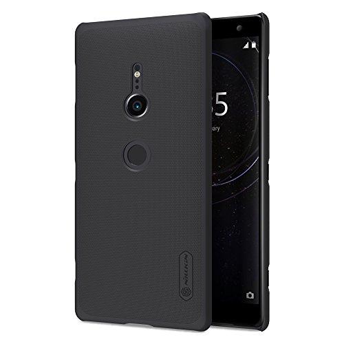 Für Sony Xperia XZ2Fall, Nillkin [mit Displayschutzfolie] Frosted Shield Anti Fingerabdrücke Hard PC Case Back Cover für Sony Xperia XT 2-Retail Paket, Schwarz Nillkin Fall
