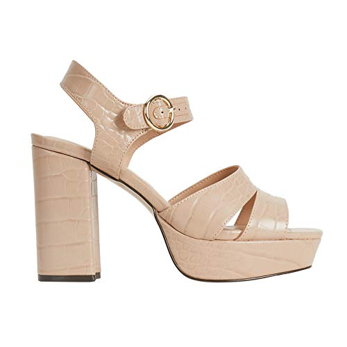 Parfois - Zapatos Tacón Alto Platform Nude - Mujeres