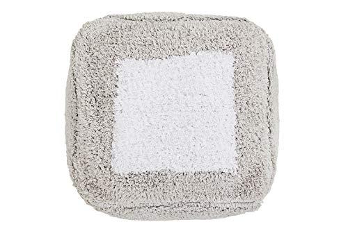 Lorena Canals Puff Pouffe Marshmallow Square Hellgrau, Weiß -100% natürliche Baumwolle/füllung: 100% Polyester - 30x39 cm
