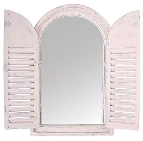 Espejo con puertas madera, diseño retro