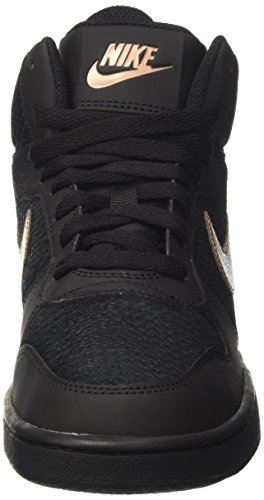 Nike W Court Borough Mid Prem, Scarpe da Basket Donna Nero (Black/Mtlc Red Bronze/Black)