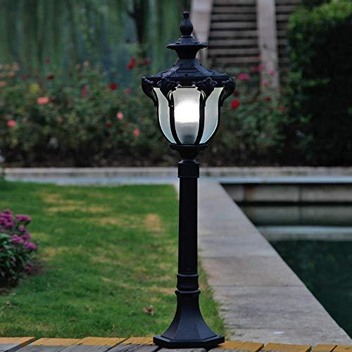 Pumnple Traditionelle Außenstehleuchte Schwarz Aluminiumguss Säule Stehlampe Victoria Exterior Garden Yard Einfahrt wasserdichte Straßenleuchte E27 Decor 1-Licht (Größe : High 0.8m)