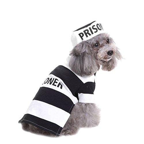 Für Kostüm Hunde Gefängnis - Einheitliche Kleidung von Welpen gleichmäßige Gefängnis mit dem Hut sich déguisant Bekleidung von Halloween-Party für Katzen und Hunde von umaybeauty