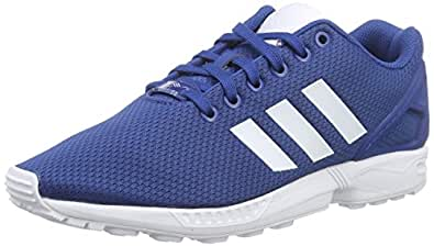 adidas Originals Men's Zx Flux Dark Blue and White Running Shoes - 10 UK