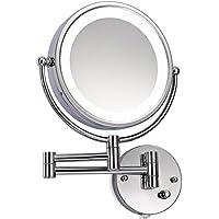 Luxus LED Designer Kosmetikspiegel-Hotelspiegel-Badspiegel-Wandspiegel-10 Fach Zoom und 1:1 Ansicht- Drehschalter
