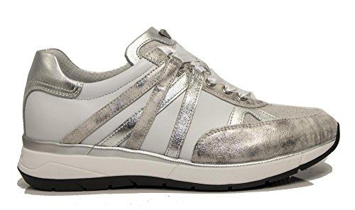 Nero Giardini Sneaker P805252-115 5252 Scarpe Running Donna Sportive Grigio Acciaio Grigio
