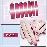 RXBGPZZJT Adesivo Per Unghie 14 Punti/Foglio Nail Sticker Bellezza Nail Art Glitter Consigli Full Nail Wraps Foil Fai Da Te Adesivo Decalcomanie Accessori Da069-099