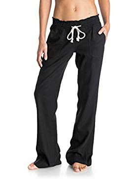 Roxy Oceanside Pantalones, Mujer, Negro (Anthracite/Solid), S