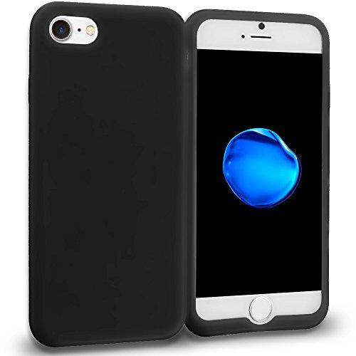 Custodia Apple iPhone 7 , Ikikin TPU Silicone Custodia Slim Bumper per iPhone 7 (4.7 pollici) Caso Protezione case Copertura cover - Menta verde Nero