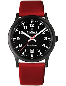 noon copenhagen Unisex- Armbanduhr Design rot 74002L3
