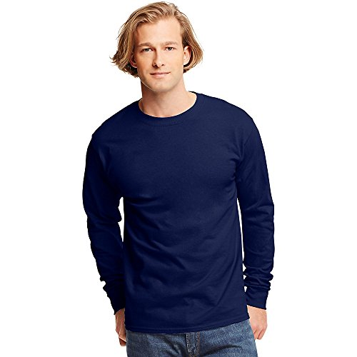 Hanes TAGLESS? Men`s Long-Sleeve T-Shirt - Best-Seller!