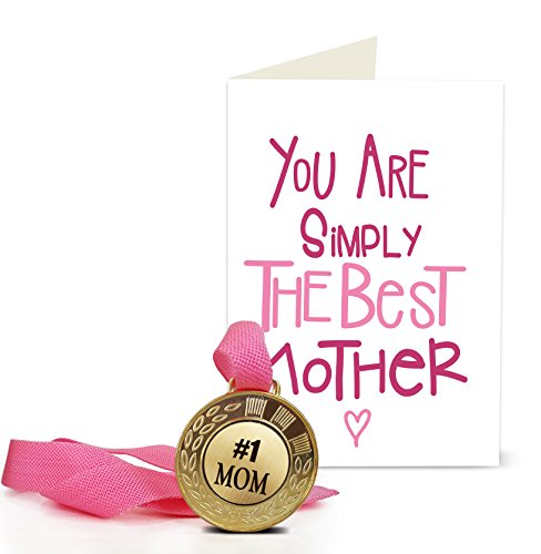 Tied Ribbons Mother's Day Gift Greeting Card With Golden Medal