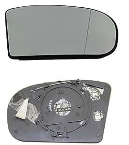DoctorAuto DR165432 Miroir Glace Verre de Rétroviseur Extérieur Chauffante Avec le Support en Plastique Droite