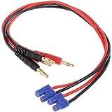 Gazechimp Batería Lipo Cable de Carga 4mm Banana Plug EC3 Piezas de Repuesto para RC Aviones