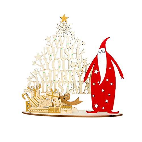 Myspace 2019 Dekoration für Christmas Weihnachtsschmuck Kreative Weihnachtsmann Holz bemalt DIY Home Decoration Holz bemalt Weihnachtsschmuck