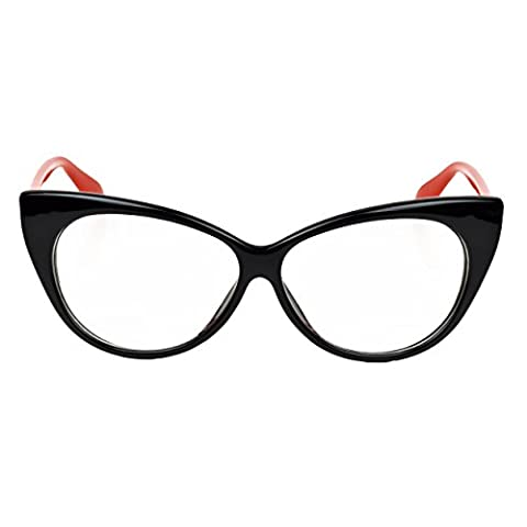 iB-iP womens Cateye Clear Lense Eyeglasses, Red