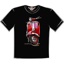 retro t-shirt camiseta Vespa roja