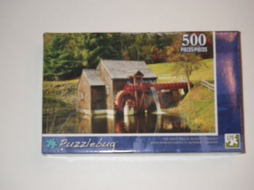500 Piece Puzzlebug - Old Grist Mill in Autumn, Vermont by Puzzlebug Old Grist Mill