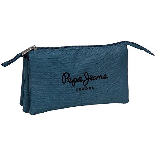 PEPE JEANS Trousse 3 Compartiments Vanity, 22 cm, Bleu 6044351