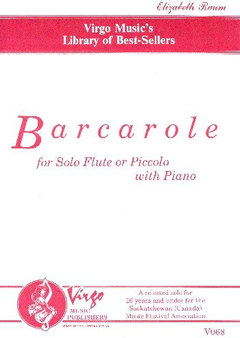 BARCAROLE: FOR SOLO FLUTE OR PIC- COLO WITH PIANO
