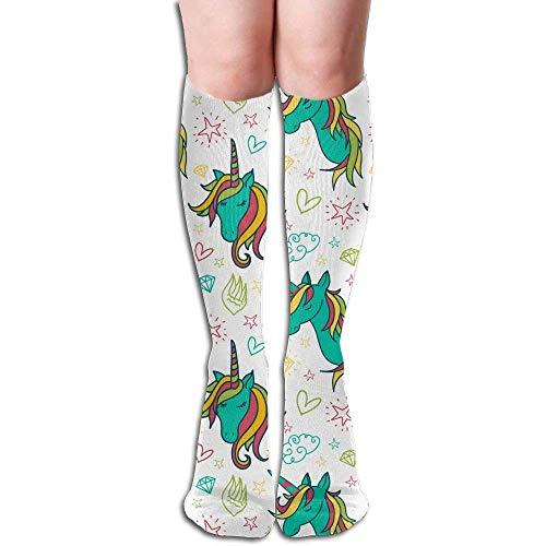 Cat Big Girls/Women Cartoon 3D Pattern Knee High Socks Warm Cotton Stockings
