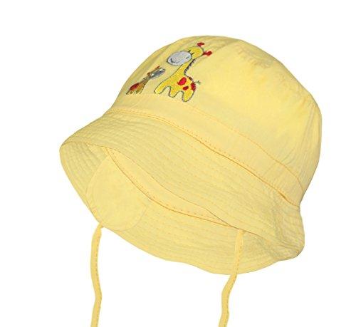 Galeja Kindermütze Sommerhut 2 Tragevarianten Farbe Gelb Gr. 52/53 Jungen Mädchen Schlapphut Sonnenhut (Piraten-baseball-jersey)