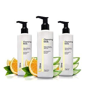 Leche Facial Desmaquillante con Vitamina E y Aloe Vera 3en1 Limpiador de Poros Antimanchas Leche Hidratante Waterproof…