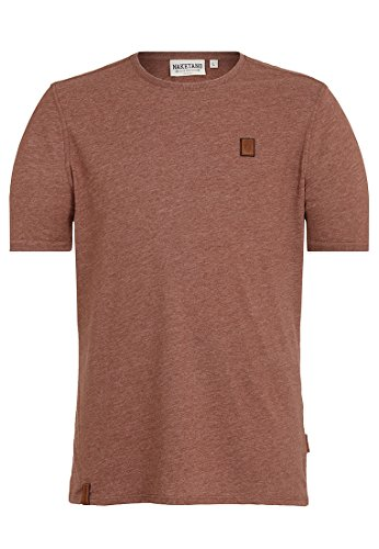 Naketano Male T-Shirt Italienischer Hengst VI Brown Melange