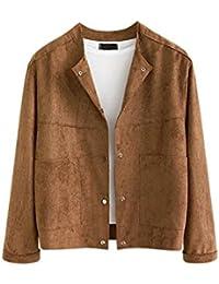 super popular b2074 864ac Amazon.it: camoscio giacca - Giacche e cappotti / Donna ...