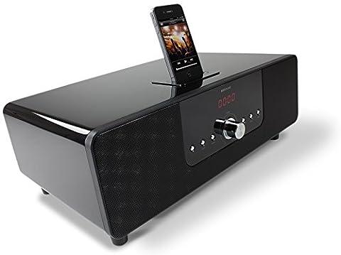 KitSound BoomDock Dockingstation Lautsprechersystem Kompatibel mit iPhone 3G, 3Gs, 4, 4S, iPod Nano 6t.Gen und iPod Touch 4. Gen - Schwarz