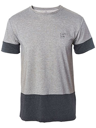 Herren T-Shirt Rip Curl Cutting Modern Vc T-Shirt Cement Marle
