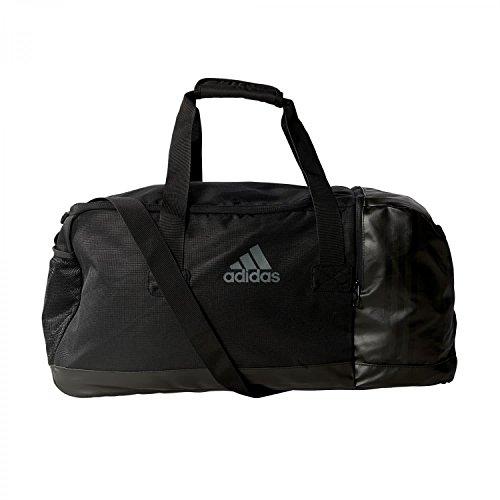 adidas Sporttasche 3-Streifen Team,Schwarz( Black/Visgre), M (66 x 29 x 27 cm 52 Liter), AJ9993 (Gepolsterte Herren 3-streifen)